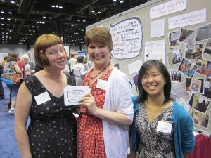 Kirsten Cappy, Anne Sibley O'Brien and Lanie Honda presented I'm Your Neighbor at the ALA Diversity and Outreach Fair in Chicago June 29th